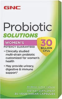 GNC Probiotic Solutions Womens 30 Billion CFUs 30 Vegetarian caps
