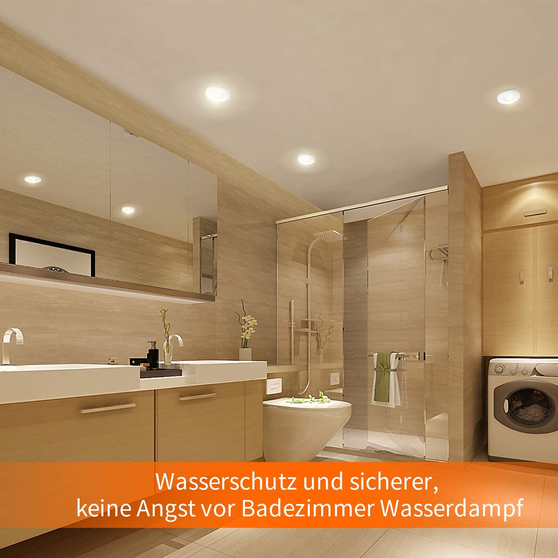 HiBay® 20Stk LED Einbaustrahler Ø20 20mm IP20 GU20 Badezimmer ...