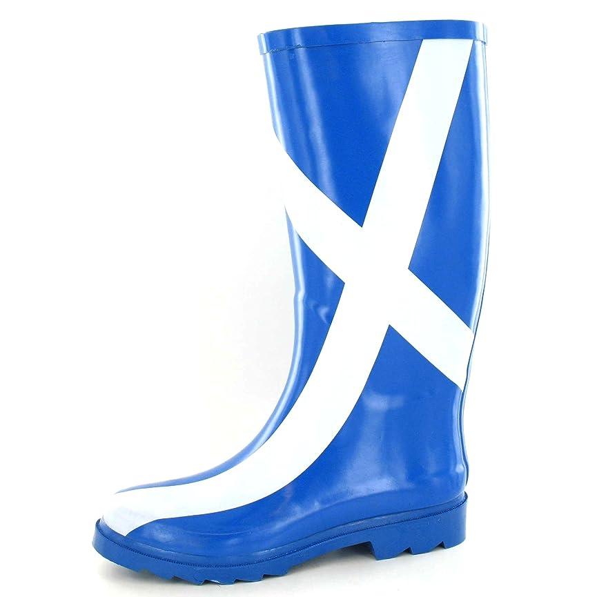 高度出発パトロール[Spot On] (スポットオン) レディース スコットランド国旗 ウェリントンブーツ 婦人長靴 レインブーツ 女性用
