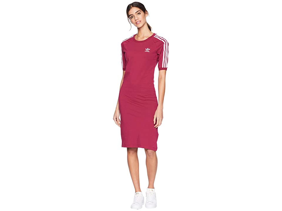 Image of adidas Originals 3 Stripes Dress (Mystery Ruby) Women's Dress