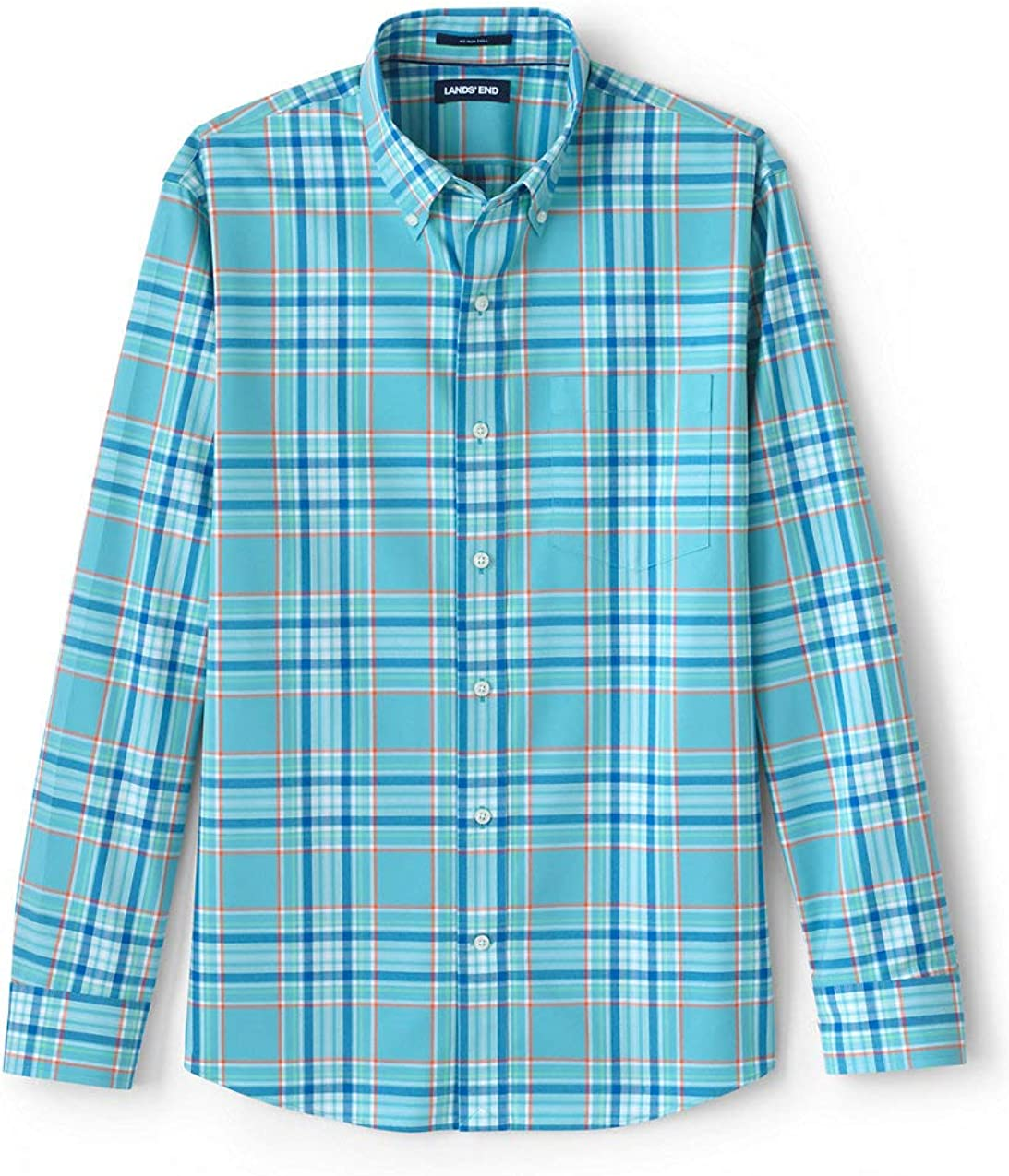 Lands' End Men's Tailored Fit No Iron Twill Shirt