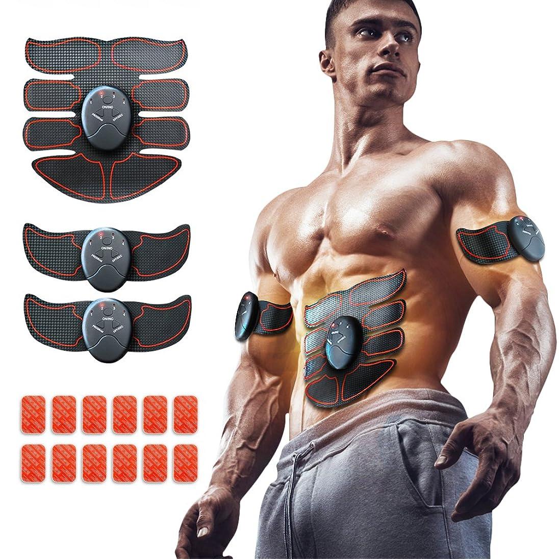 立証する柔らかさ辛いEMS 腹筋ベルト EMS 腹筋トレーニング 筋トレマシン ダイエット器具 腹筋 腕筋 筋トレ器具 トレーニングマシーン 6種類モード 10段階強度 日本語説明書付属