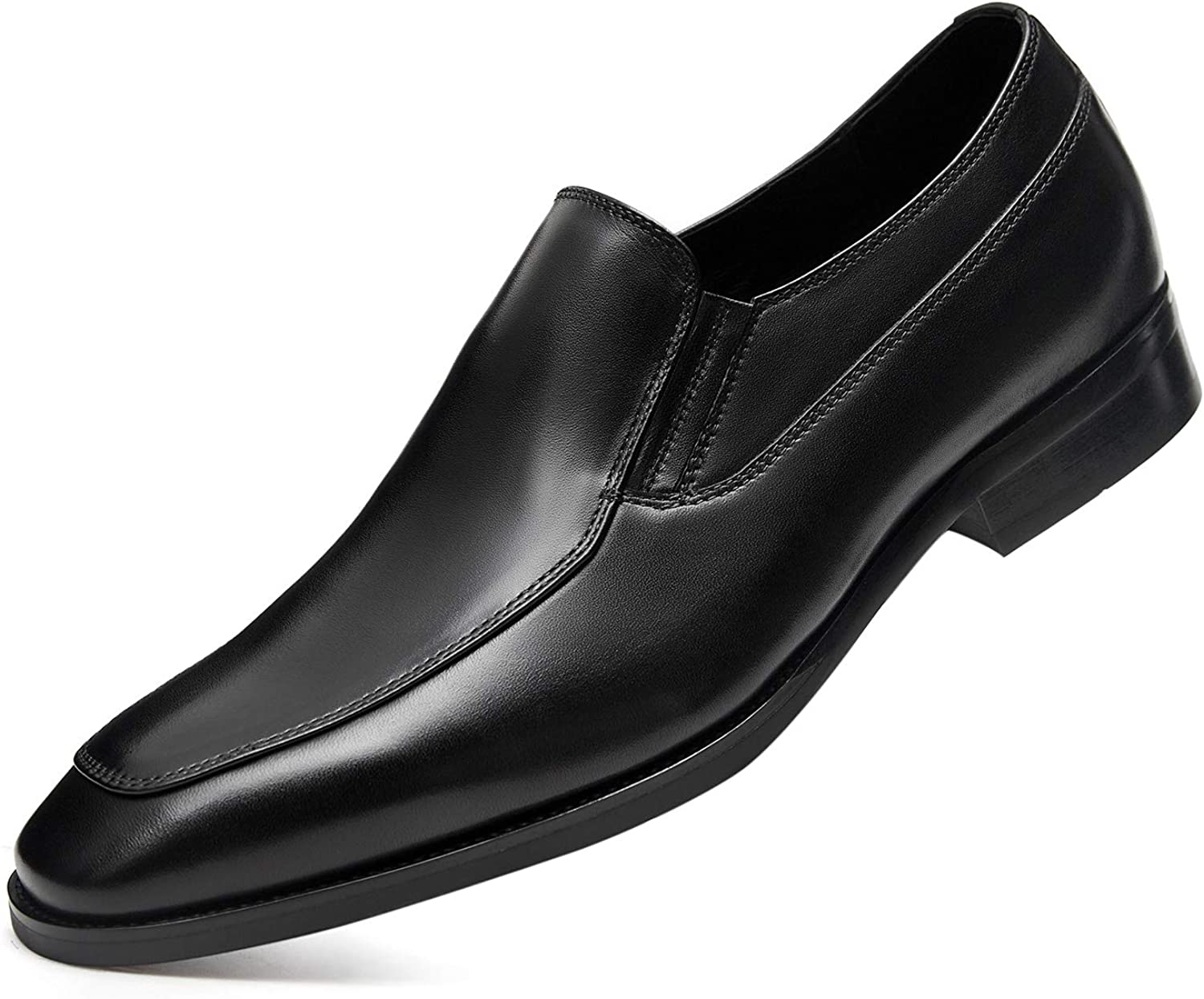 GIFENNSE Men's Dress Shoes Slip-on Loafers Leather Formal Shoes for Men