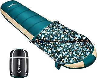 KingCamp 寝袋 オールシーズン 軽量 コンパクト シュラフ マミー型 0℃~ キャンプ 登山 ツーリング 防災 洗える 防風保温