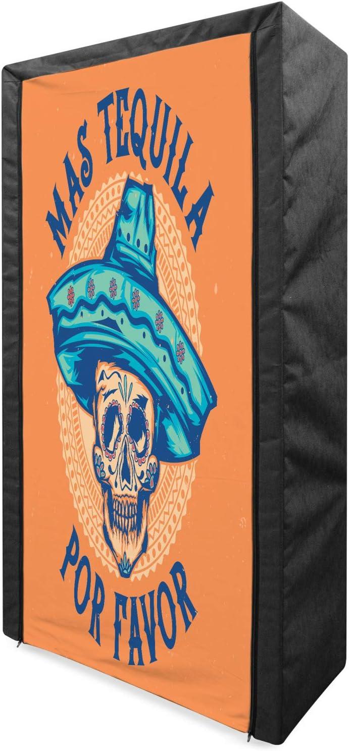 Ambesonne Alcohol Portable Fabric Wardrobe, Hand-Drawn Sugar Sku