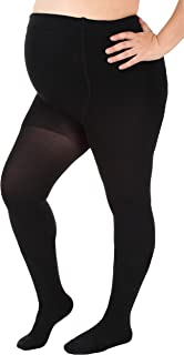 Opaque Maternity Compression Stockings Pantyhose 20-30mmHg, Black Large