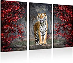 Tiger Under Tree with Waterfall in Forest Tapestries Art for Home Decorations Dorm Decor Living Room Bedroom 60X40in Wall Carpet NYMB Safari Wild Animals Tigers Tapestry Wall Hanging Tiger