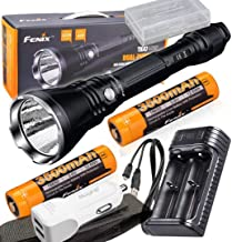 Fenix TK47UE Ultimate Edition 3200 Lumen LED Tactical Flashlight w/2x high capacity 3500mAh 18650 batteries, ARE-X2 USB charger, and battery case