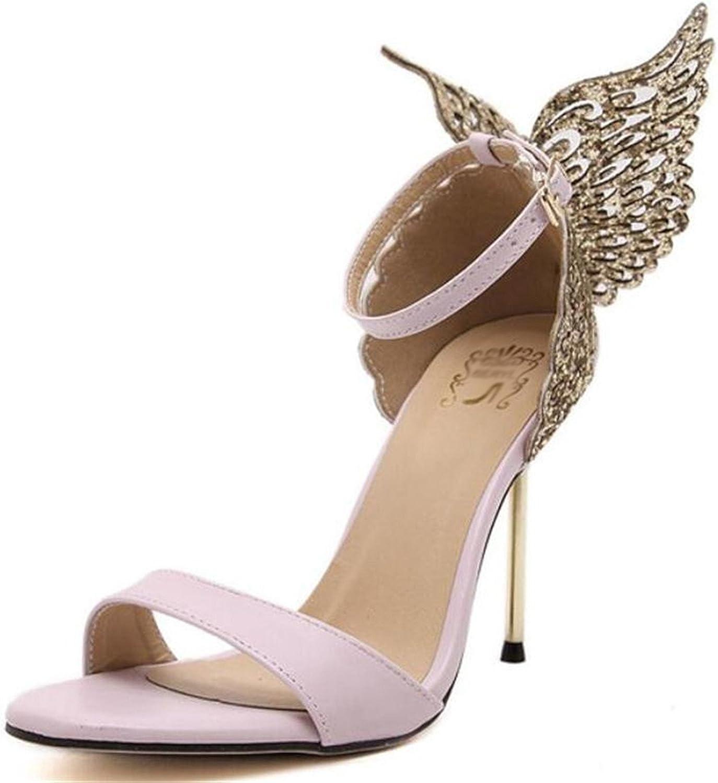 Willie Marlow Fashion Women Valentine shoes Bronzing Sequins Butterfly High Heels Wedding Sandals