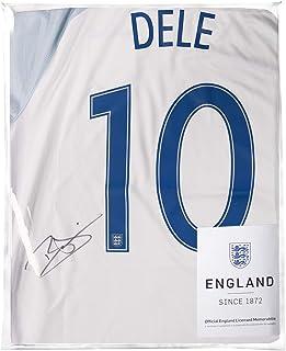 Icons.com Dele Alli Official England Back Signed 2016-17 Home Shirt: Number 10 Side Signature