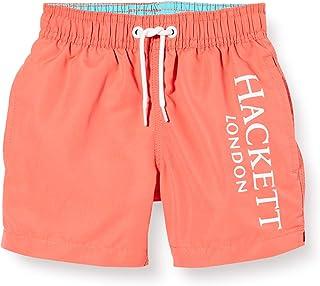 Hackett London Logo Volley B Bañador, Naranja (Coral 179), 92 (Talla del Fabricante: K02) para Niños