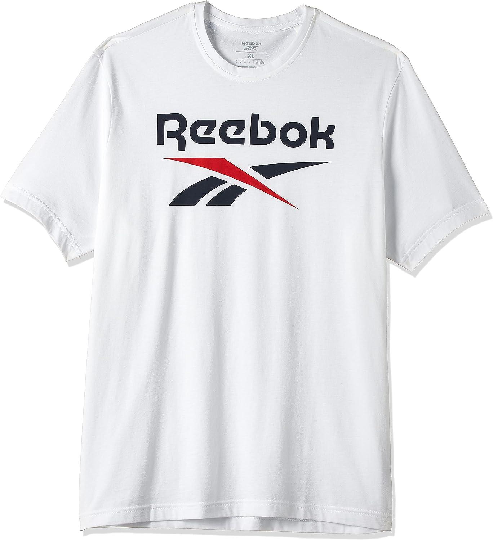 reebok classic Ri Big Logo Tee T-Shirts & Polo Shirts Men White/Blue - XS - Short-Sleeved T-Shirts Shirt