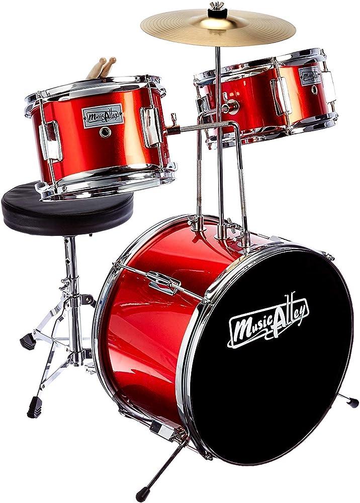 Music alley set di batteria musicale 3 pezzi ideale per bambini dai 4 ai 7 anni DBJK02-MR