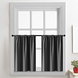Amazon Com Window Curtain Panels Rod Pocket Panels Curtains Drapes Home Kitchen