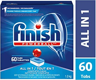 Finish - All in 1 - 54ct - Dishwasher Detergent - Powerball - Dishwashing Tablets -