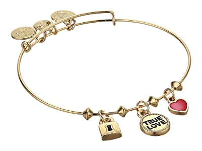 Alex and Ani True Love Trio Charm Bangle Bracelet (Gold) Bracelet