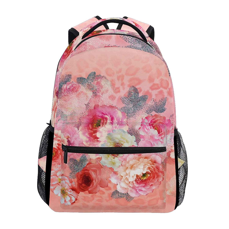 GORIRA(ゴリラ)リュックサック 高校生 可愛い 大容量 キッズ 通学 花びら 花柄 和風 絵画 リュック レディース おしゃれ 大人 防水 キャンバス 男女兼用 旅行バッグパック