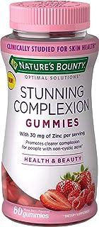 Nature's Bounty Stunning Complexion Skin Care Zinc Supplement Optimal Solutions, Dietary Supplement, 30 mg Zinc, Mixed Ber...