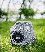 Altavoces solares Bluetooth al aire libre, altavoz estéreo Bluetooth portátil impermeable inalámbrico para patio, piscina, jardín, patio trasero, forma de roca