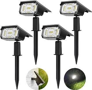 Solar Spot Lights Outdoor, PESIVI 40 LEDs Solar Landscape Spotlights, Adjustable 2-in-1 USB & Solar Powered IP65 Waterproo...