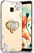 Robinsoni Hoesje compatibel met Galaxy C7 Telefoonhoes, flexibel Galaxy C7, Sparkle siliconen hoesje TPU Diamond Bling Cas...