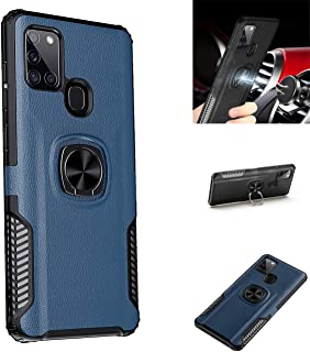 Galaxy A21S Case,360° Rotating Ring Kickstand Protective Case,Silicone Soft TPU Shockproof Protection Thin Cover Compatibl...