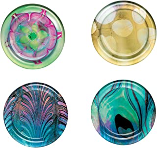 The Metropolitan Museum of Art Watercolor Glass Round Coasters, 4 Piece Set