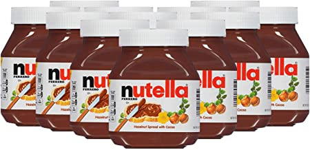 Nutella Chocolate Hazelnut Spread with Cocoa - 12 Pack, 12 x 750 g
