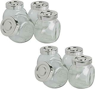 comprar comparacion Tarro de cristal Set de 4/8/16/20, para hierbas, especias, caramelos, vidrio, PACKL OF 8