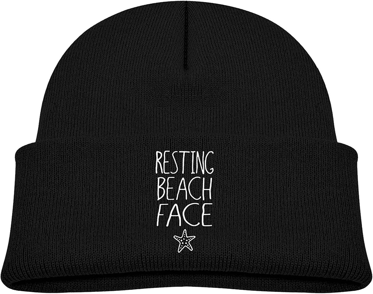 Resting Beach Face Starfish Trendy Skull Beanie Super beauty product restock quality top Hat Knit Max 63% OFF Winter