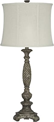 Signature Design by Ashley - Alinae Table Lamp - Vintage Style - Antique Gray