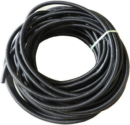 20/' pies 21MM Negro SPLIT telar tubería flexible de alambre manguera de conducto cubierta de ventas