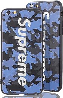 0b0b81edffa 70's up Sup Camo Case [ Apple iPhone 6 Plus, Azul ] Estuche de diseño de  Camuflaje Supreme - Parachoques Sup en patrón de Camuflaje del ejército ...