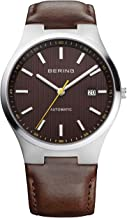 BERING Automatic Numbered Limited Edition Men's Leather Strap Watch, 13641-505