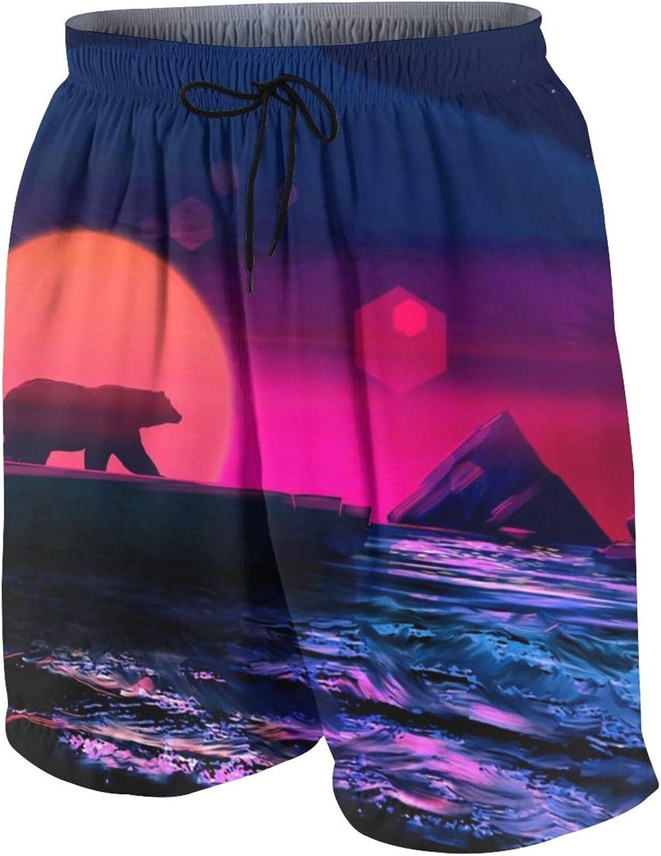 QBahoe Boys' Board Shorts Quick Dry Beach Pants Holiday Surfing Swimwear