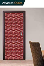 3D Door Decal Door Stickers Decor, African Bohemian Tribal Door Stickers Door Wallpaper for Home Décor, 30.3W x 78.7H Inches