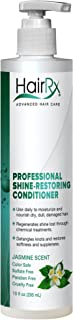 HairRx Professional Shine-Restoring Conditioner with Pump, Jasmine Scent, 10 Ounce