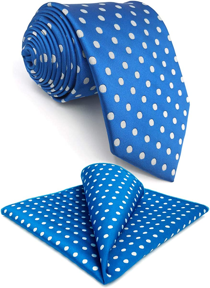 NEW before selling SW SHLAXWING Tie Set Neckties for Silk Blue Long Dot Men Our shop OFFers the best service Extra