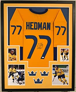 Victor Hedman Autographed Signed Custom Framed Team Swedan Jersey - JSA Authentic