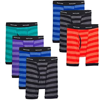 Boys Cotton Boxer Brief Underwear (Small (Waist (23-24)), Stripes - Assorted (Pack of 7))