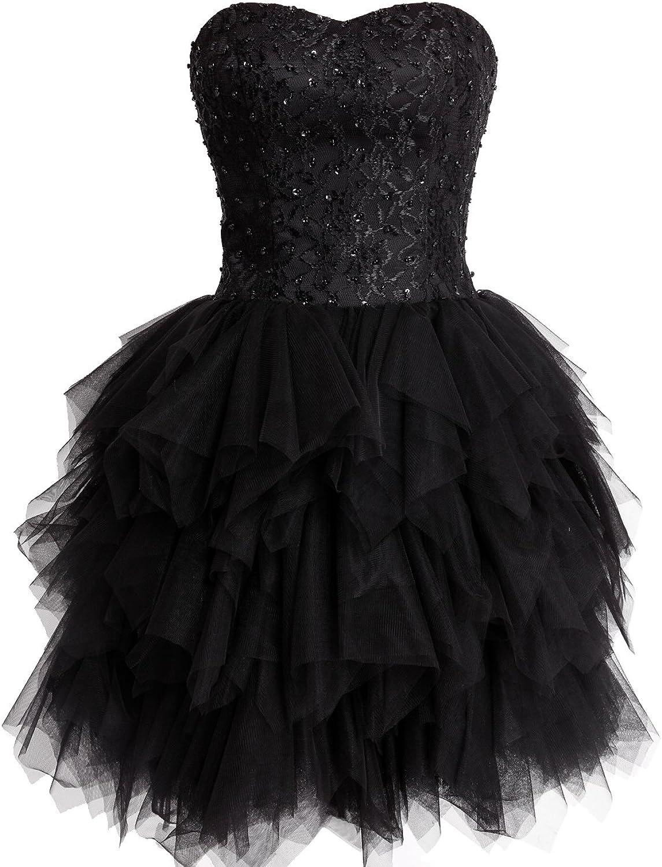 Fashion Plaza Mini Princess Strapless Ruffled Homecoming Cocktail Dress D0237