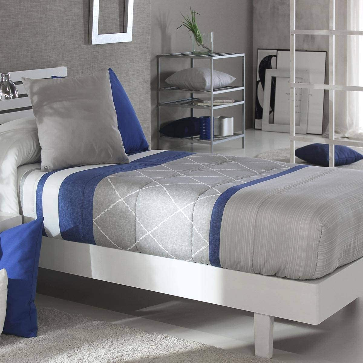 Color Azul C03 Cama 90 Cm Edred/ón Ajustable Wang AG Reig Marti