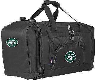 NFL New York Jets Roadblock Duffel Bag, Black, One Size