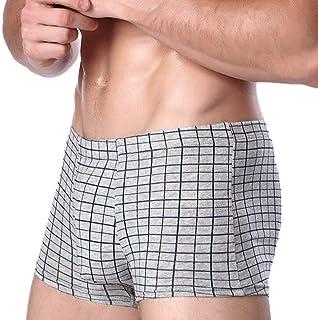Underpants Men Men Cotton Modern Casual Stamp Plaid Flat Under Warm Shoe Boxershorts Panties Underwear