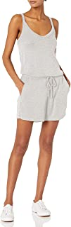 Amazon Brand - Daily Ritual Women's Sandwashed Modal Blend V-Neck Sleeveless Romper