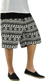 – Hippie Bermuda Shorts with Tribal Pattern - Quintessenz