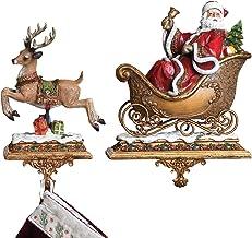 Set of 2 Joseph's Studio Santa Claus and Reindeer Christmas Stocking Holders