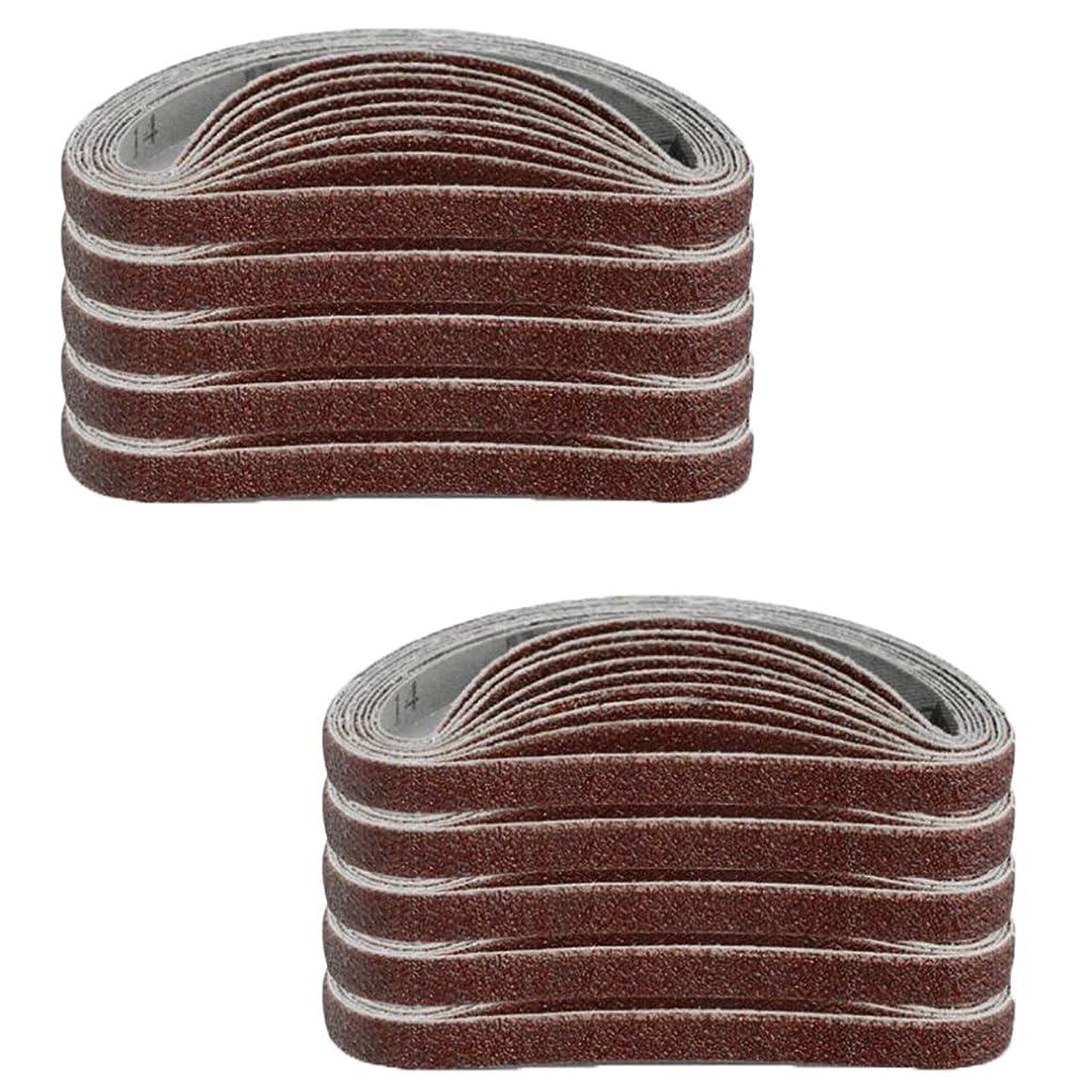 アスリート洗剤いらいらさせるHWT ベルトサンダー サンディングベルト 粗目 60番 100枚入 エンドレスベルト 研磨 交換用 業務用 サンダー 幅 10mm (#60, 幅10mm)