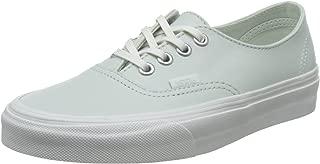 Vans Womens Authentic Decon Leather Low Top Lace Up, Zephyr Blue/Bla, Size 7.0