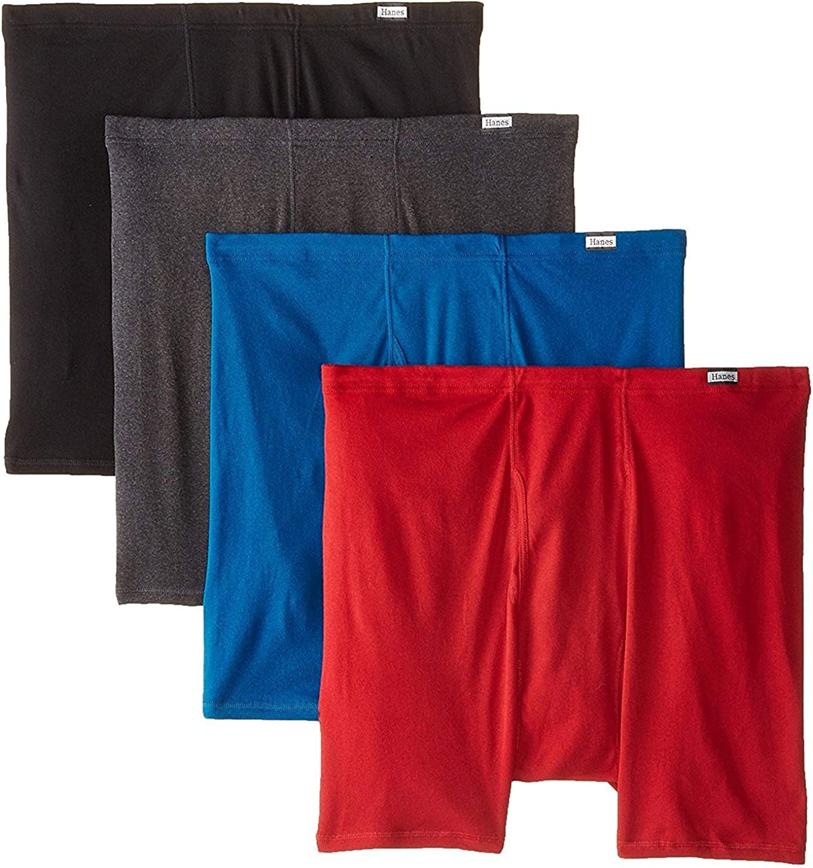 Hanes Men's 4-Pack ComfortSoft Extended Sizes Boxer Briefs